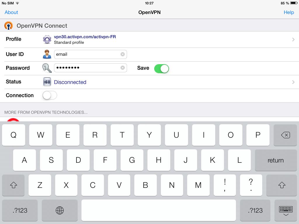 Configurar OpenVPN en Apple iOS
