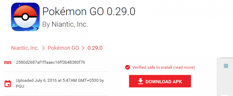 install Pokemon GO on Android with a VPN